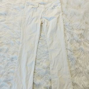 7 For All Mankind White Skinny Bootcut Jeans SZ 28